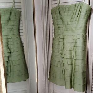 Size 0 bcbg max azria green silk dress